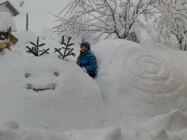 Schneekunstwerke