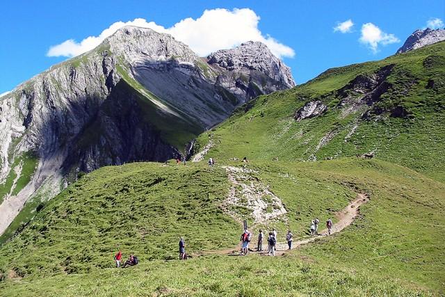 Wanderweg in den Bergen
