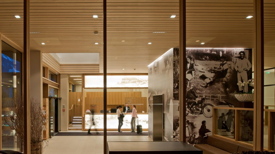 Eingangsbereich im Hotel Sonne in Mellau
