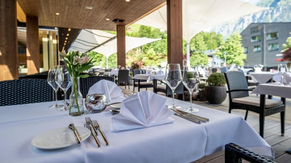 Gourmethotel mit Terrasse