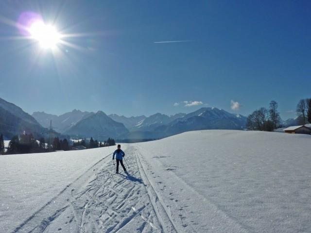 Langlaufen in Oberstdorf im Allgäu