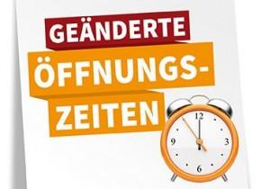 Geänderte Öffnungszeiten in Marktoberdorf ab 15.Juni!