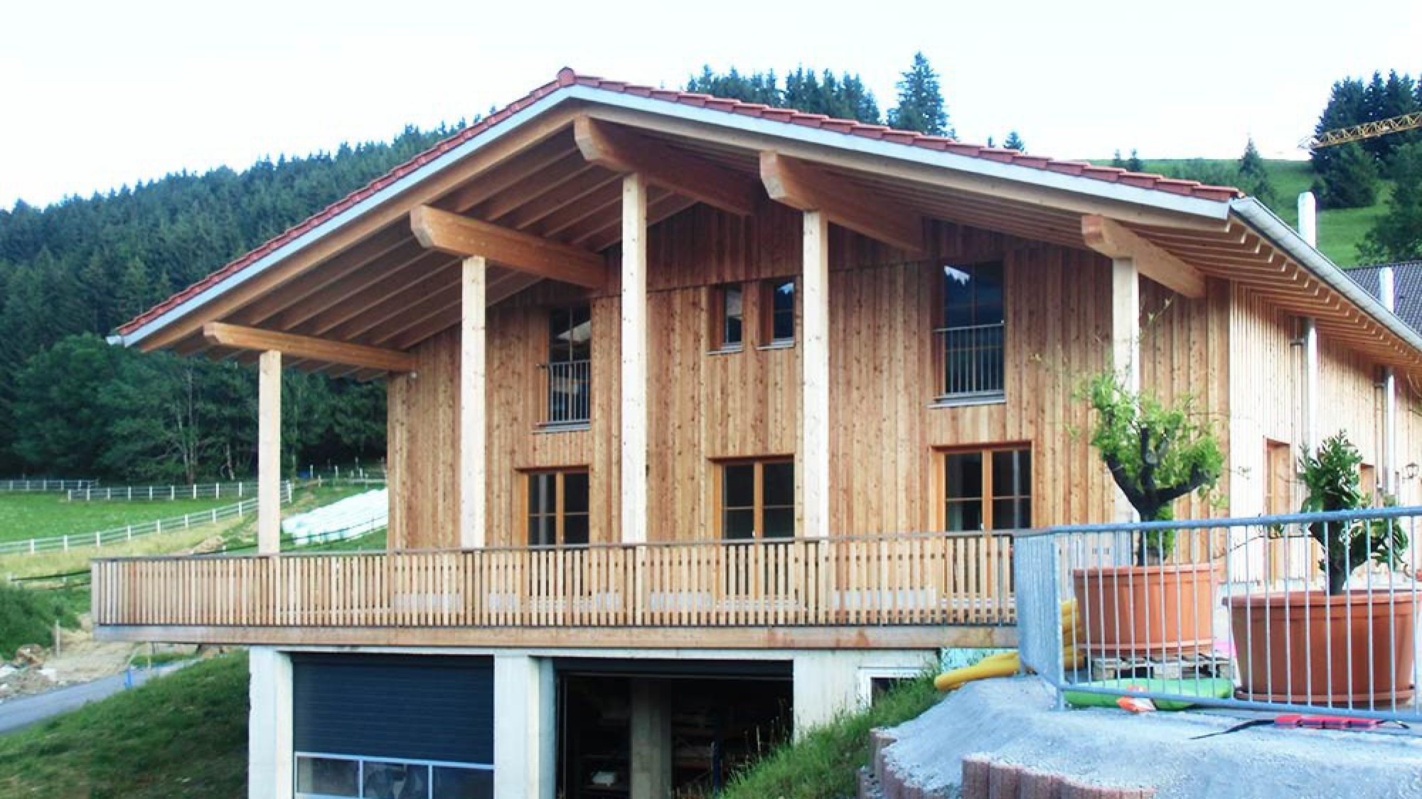 Holzhaus als Ökohaus bauen mit Holzbauerfahrung aus dem Allgäu in Bayern