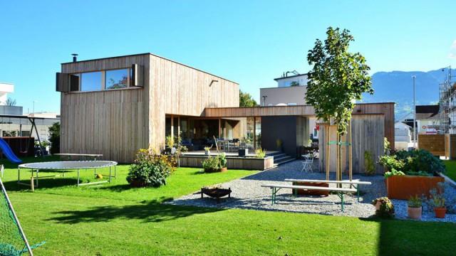 Holzblockhaus bauen lassen beim Hersteller Völk aus dem Allgäu