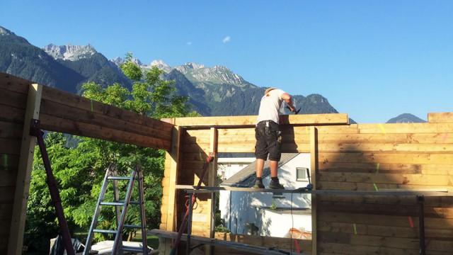 Versetzung Berghütte Zimmerei