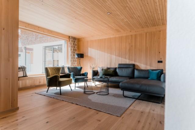 Wohnzimmer Massivholzhaus