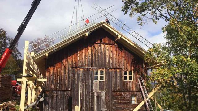 Sanierung Berghütte