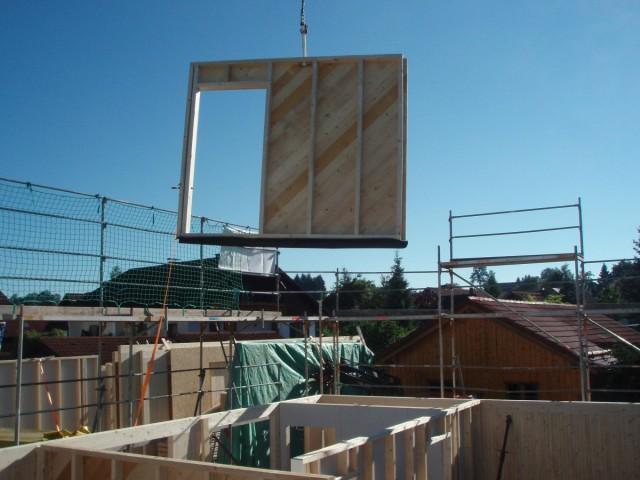 Holzhaus bauen: Bauphase