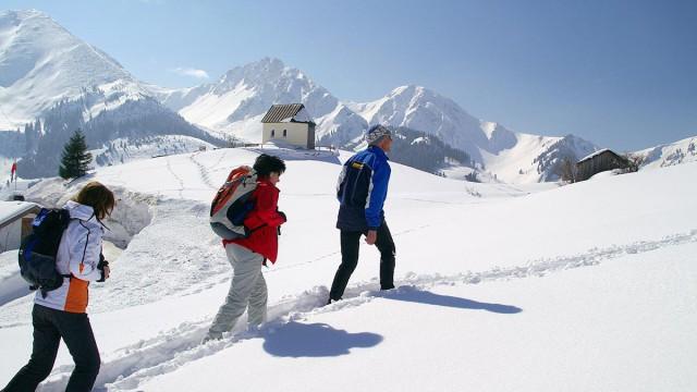 Winterurlaub - Schneeschuhwandern, Skitouren und Rodeln