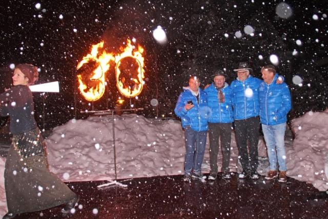 Ihre Winterfestbetreiber  v.l. Mehmet Sentürk, Rainer Scheuerl, Gustl Stempfle, Rolf Zens